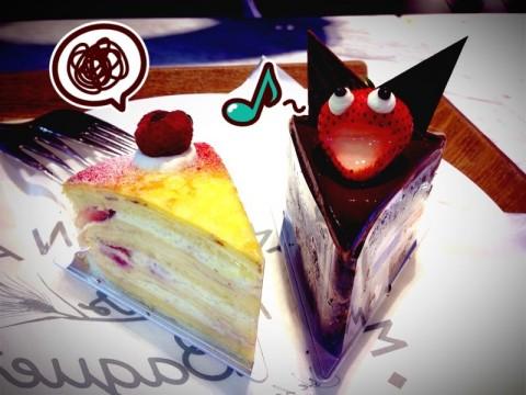 Singing HAHA~ wif cnt tan Han cake!!