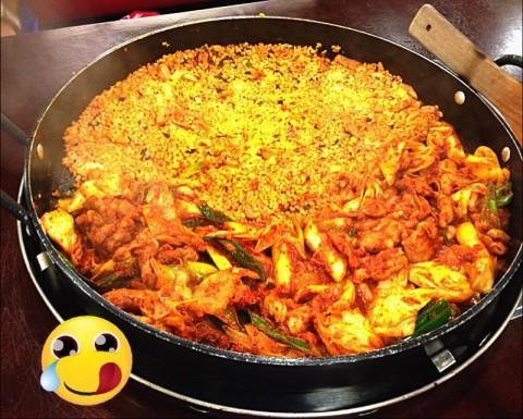 Cheese Fried rice combo Chicken Galbi!!!